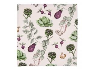 Textilní ubrousky The Kitchen Garden - 40*40 cm - sada 6ks