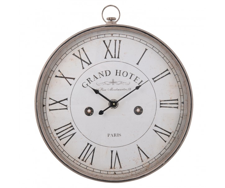 Kovové nástěnné hodiny Grand hotel - 61*7*68 cm / 1xAA