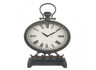 Stolní hodiny Mystique s patinou - 32*12*44 cm / 1xAA