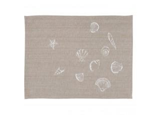 Textilní prostírání  Sea Shells - 48*33 cm - sada 6ks