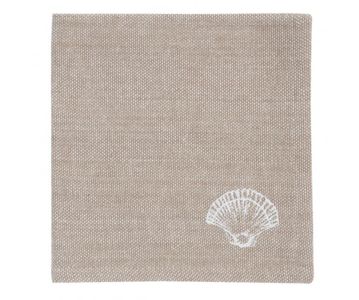 Bavlněné ubrousky Sea Shells - 40*40 cm - sada 6ks