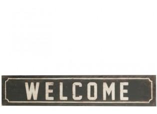 Kovová cedule Welcome - 24*119*1 cm