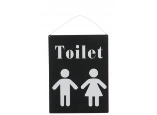 Plechová cedule Toilet - 35*26 cm