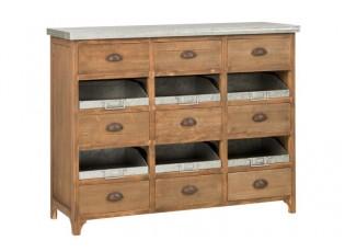 Dřevěná komoda se šuplíky - 114*40*90 cm
