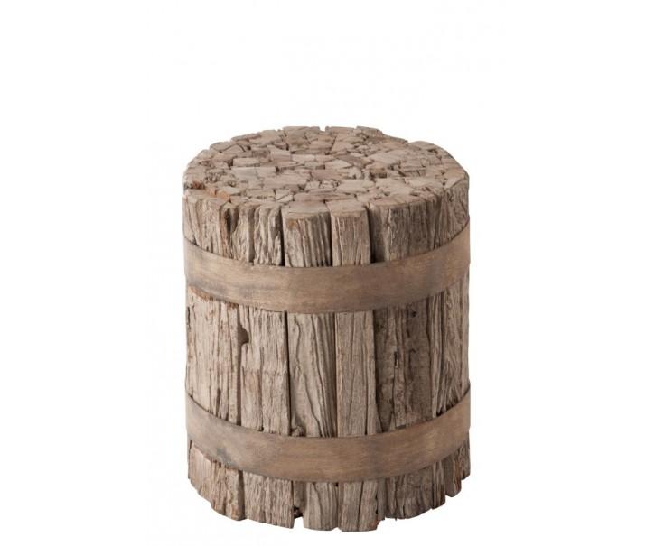Stolička ze dřevěných špalíků -  Ø 40*45cm