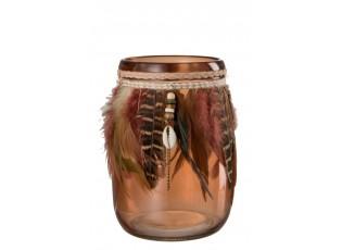 Sklenička na čajovou svíčku BOHO - Ø 12*15,5 cm