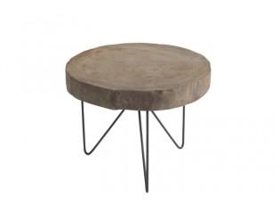 Odkládací stolek Paulownia L - Ø 50*37 cm