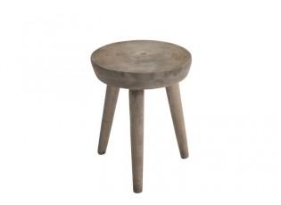 Dřevěná stolička Paulownia - Ø 34*44 cm