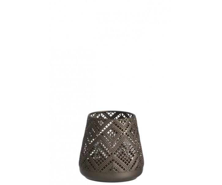 Kovový svícen na čajovou svíčku Hurricane - Ø 13*13 cm