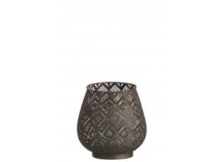 Kovový svícen na čajovou svíčku Hurricane - Ø 19*20 cm
