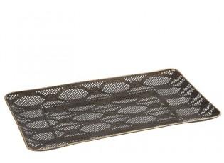 Kovový děrovaný podnos - 39*31*5 cm