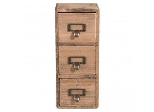 Dřevěná nástěnná skřínka se šuplíčky - 11*11*27 cm