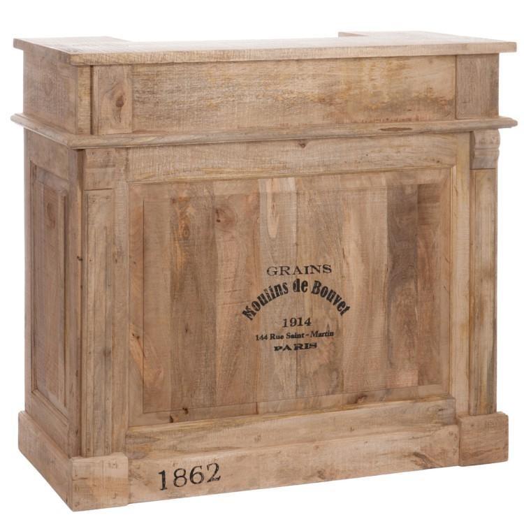 Dřevěný barový pult - 120*50*108 cm