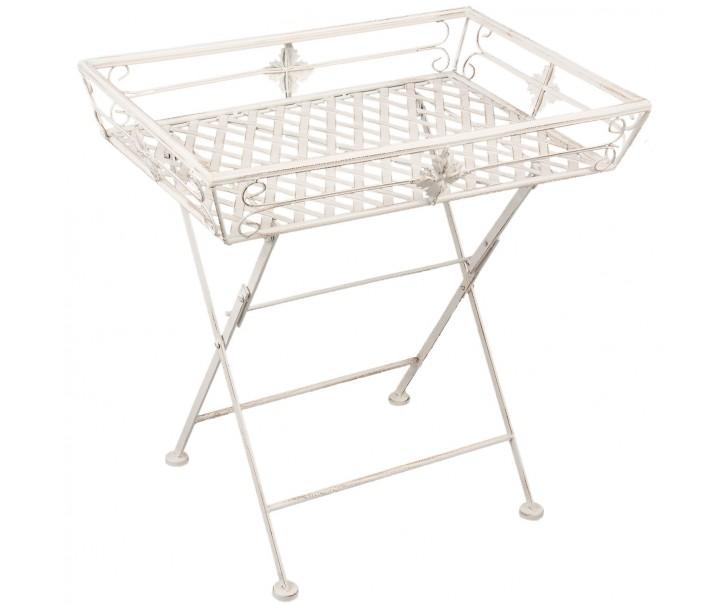 Skládací zahradní odkládací stolek - stojan na květiny - 58*43*60 cm