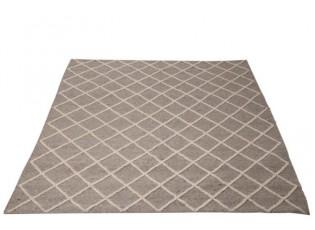 Šedý koberec Check Wool - 200*300 cm
