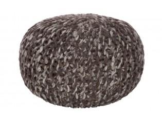Pletený pouf  Wool brown - Ø 51*36 cm