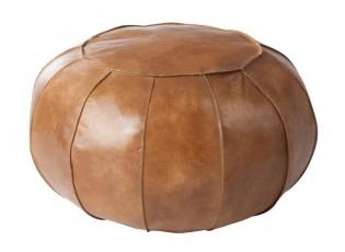 Kožený pouf / taburet Strip - Ø 61*30 cm