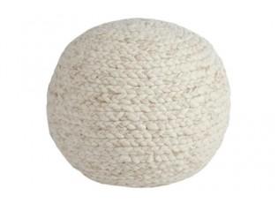 Pletený pouf  Wool beige - Ø 50*35 cm