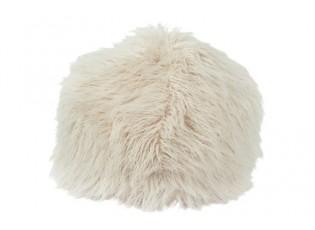 Béžový chlupatý pouf Yetty - Ø 55*55 cm