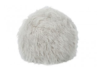 Šedý chlupatý pouf  Yetty - Ø 55*55 cm