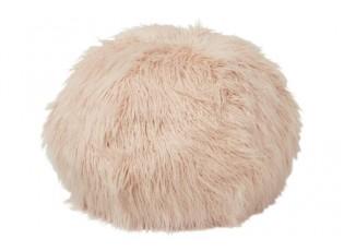 Růžový chlupatý pouf  Yetty - Ø 55*55 cm