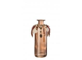 Skleněná váza BOHO - Ø 6*16cm