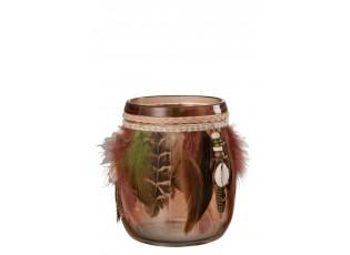 Sklenička na čajovou svíčku BOHO - Ø 12*12,5 cm