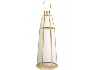 Kovová lucerna Hexagonal zlatá - Ø18*56 cm