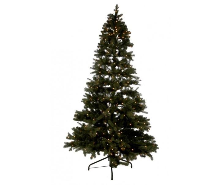 Vánoční stromek s led světýlky zelený - 225cm