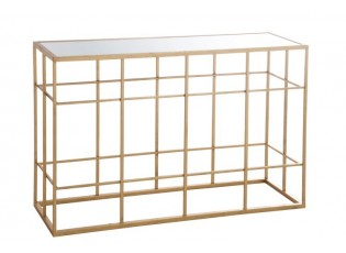 Konzolový stolek se skleněnou deskou