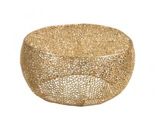 Coffee stolek zlatý - 81*81*41cm
