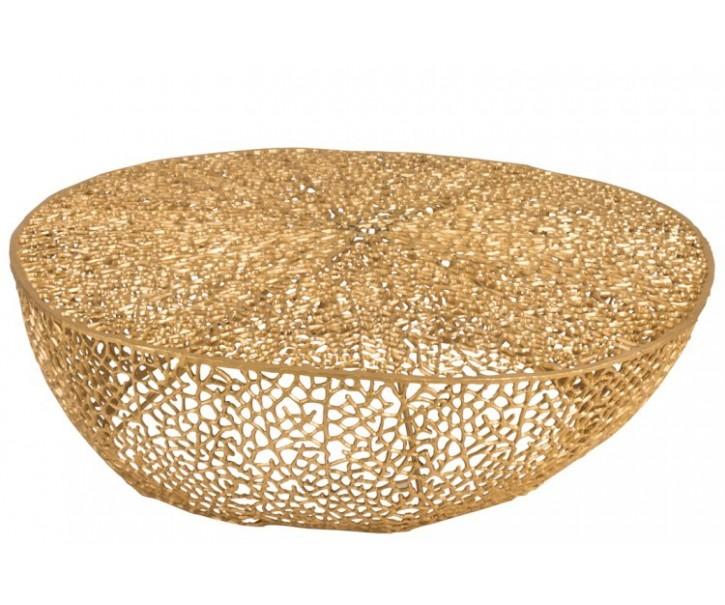 Coffee stolek zlatý - 114*112*30cm