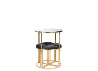 Stůl + 4 židličky Gold - 61*81cm