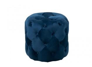 Pouf / stolička Velvet blue - Ø 44*44 cm