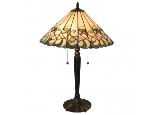 Stolní lampa Tiffany Happy green - Ø 43*62 cm / E27 / Max. 2x60