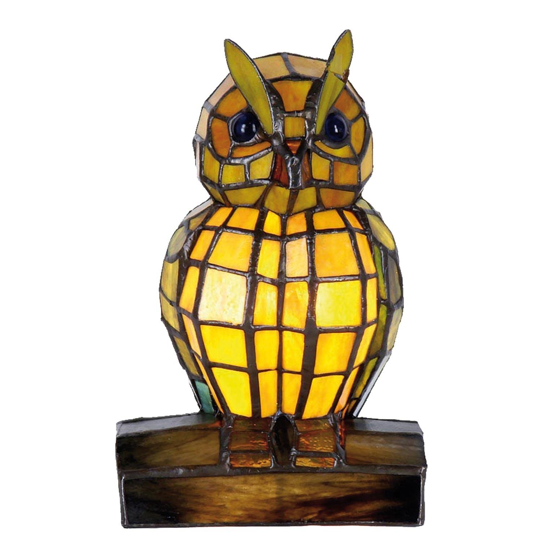 Dekorativní lampa Tiffany sova - 24*15 cm