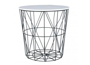 Kovový odkládací stolek - Ø 40*40 cm