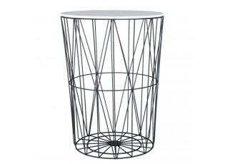 Kovový odkládací stolek - Ø 44*60 cm