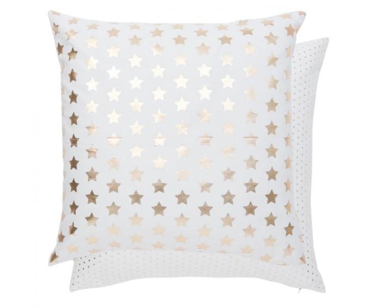Povlak na polštář Choose to Shine zlaté hvězdy - 50*50 cm