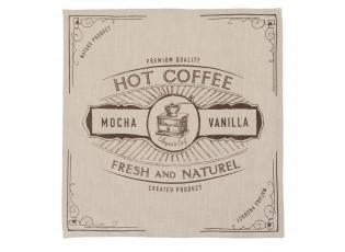 Textilní ubrousky But First Coffee - 40*40 cm - sada 6ks