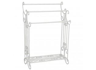 Bílý kovový stojan na ručníky - 61*33*92 cm