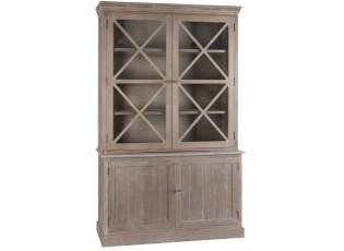 Skříň s prosklenými dveřmi - 136*41*216 cm