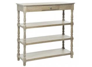 Konzolový stolek přírodní - 110*35*109 cm
