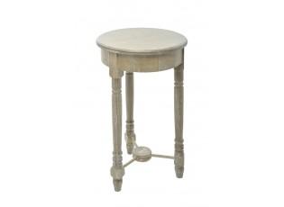 Odkládací stolek přírodní s patinou - Ø 35*60 cm