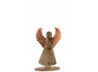 Dřevěný anděl - 18*31*2cm