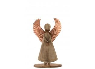 Dřevěný anděl - 28*38*2cm