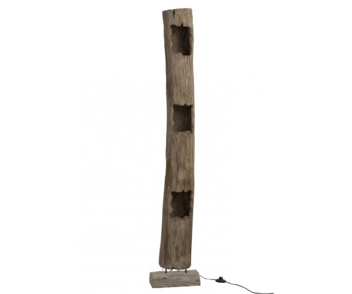 Stojací drevená lampa Paulownia 3