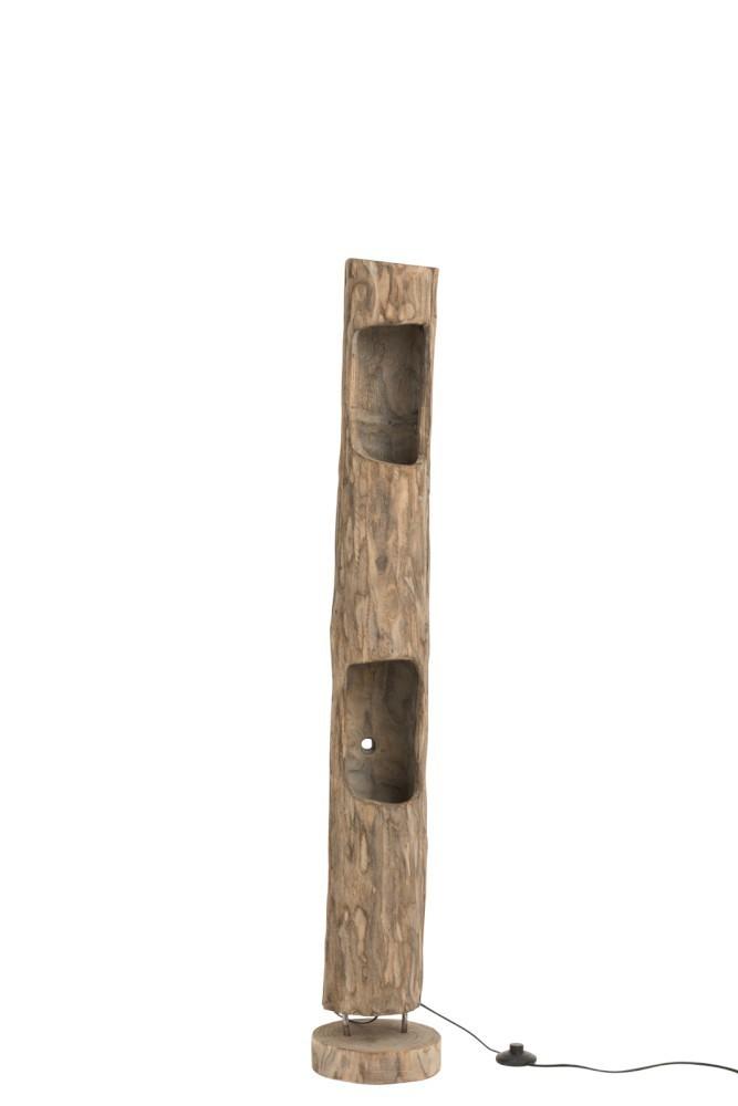 Stojací dřevěná lampa Paulownia 2 - 20*20*133 cm