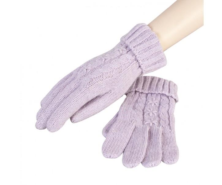 Pletené rukavice lila - 8*23 cm