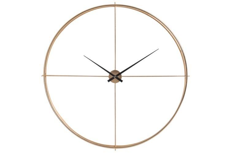 Zlaté kovové nástěnné hodiny Metgo- Ø 128*10 cm